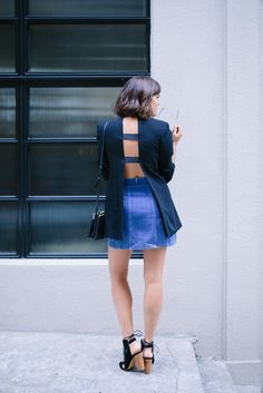 A Pair & A Spare | Before & After: DIY Open Back Blazer