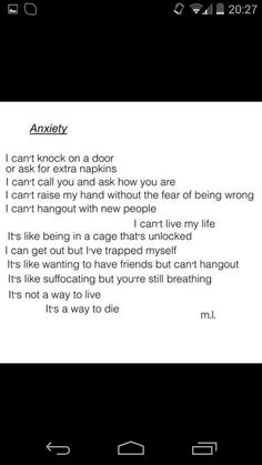 I feel like I've lost everyone because of the thoughts that go on in my mind.... fuck it's so frustrating having Anxiety run your life. I miss who I was