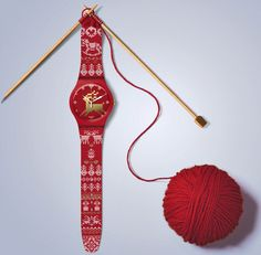 Swatch Christmas ad. Time to knit your holiday.