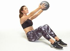 Medicine Ball Workout For Lower Back - Women Fitness Fitness Workouts, Hard Ab Workouts, Ab Core Workout, Fitness Gif, Workout Ball, Tight Tummy, 6 Pack Abs, Lower Abs, Core Muscles