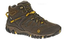 Merrell All Out Blaze Mid WP Black Slate/Yellow -Mens