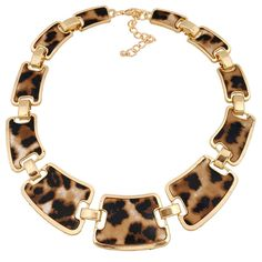 Fashion Women Leopard Statement Classic Elegant Choker Necklace. The necklace also as clothing accessories. Item weight:82g. Fashion Beautiful Jewelry for Different Occasions:casual wear,anniversary,bridal,cocktail party,wedding or gift.