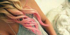 light pink dip dye