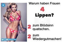 Warum haben Frauen 4 Lippen? - Schmutzige Witze