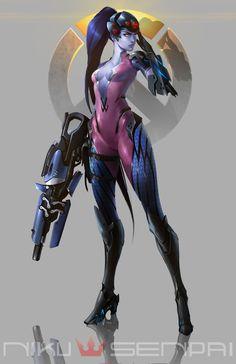 Widowmaker by NikuSenpai on DeviantArt Widowmaker Fanart, Widowmaker Overwatch, Overwatch Comic, Overwatch Fan Art, Overwatch Genji, Fatale Overwatch, Video Game Art, Video Games, Female Armor