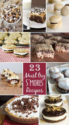 23 Must- Try S'mores Recipes