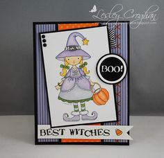 """Whimsy and Stars Studio Stamps: Best """"Witches"""" {Halloween Card by Lesley Croghan}"""