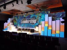 Business conference stage