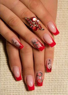 Modele de unghii rosii 5