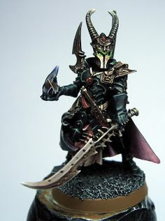 Burned Brush: Dark Eldar Archon - finished & recipe for the gold.