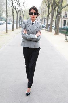 Denni Elias  Stella McCartney blazer, trousers  http://www.chicmuse.com/