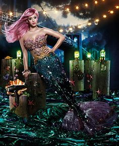 You can't go wrong with Katy Perry & mermaids :D