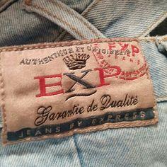 Vintage EXP jeans High waisted EXP express jeans, light blue, jeans Express Jeans