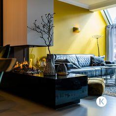 """Vanaf het moment dat de haard op zijn plek stond, zijn Ingrid en Jan heel tevreden met hun keuze. """"De haard voegt warmte toe en maakt de ruimte sfeervol''. Lees het hele verhaal op Kalfire.com.🔥🏠   Gashaard inbouw   gashaard ideeen   roomdivider gashaard   gas fireplace   gas fireplace ideas   gas fireplace top 10   fireplace makeover   fireplace decor   interior design   gashaard modern   gashaard woonkamer   gashaard woonkamer modern   gashaard inbouw hoek   gashaard inbouw Foyers, Decor Interior Design, Interior Decorating, Gas Fireplaces, Couch, Living Room, Inspiration, Furniture, Home Decor"""