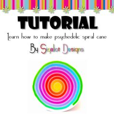 Tutorial How to make Psychedelic spiral polymer clay by Sigaliot