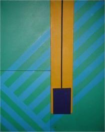 Waldo Díaz-Balart (b. 1931, Holguín, Cuba) Yuxtaposicion X, c. 1965 Acrylic on canvas, 61 x 50 in. Courtesy of the artist and Rafael DiazCasas, New York