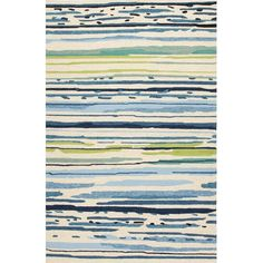 Jaipur Rugs Colours Sketchy Lines 2 X 3 Indoor/Outdoor Rug -... ($66) ❤ liked on Polyvore featuring home, rugs, green chevron rug, blue green rugs, polypropylene outdoor rugs, blue indoor outdoor rug and blue striped rug