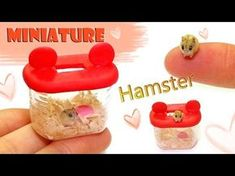 Miniature Hamster Tutorial - Polymer Clay & Paper - YouTube