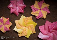 https://flic.kr/p/db2Tts | Modular Origami Stars/Flowers | Modular Origami Stars…