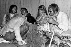 George making everyone laugh on his birthday in India 1968