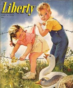 Liberty Magazine - August 4, 1945.  Art by Frances Tipton Hunter