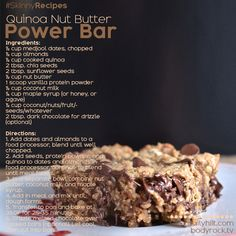 Quinoa Nut Butter Power Bar
