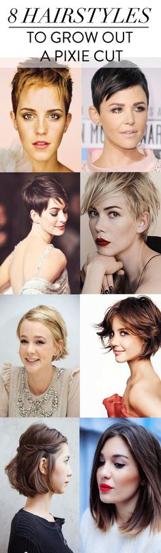 The best hairstyles to grow out a pixie cut.