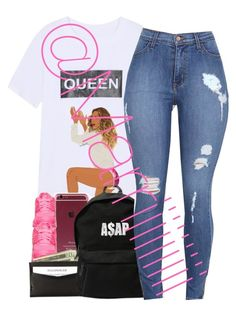 """Queen B"" by marriiiiiiiii ❤ liked on Polyvore featuring NIKE and ASAP"