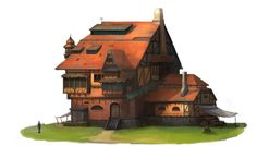 ArtStation - Medieval houses, Kyeong il Kim