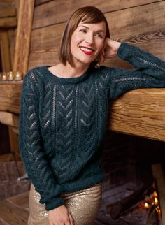 Ravelry: 331 Lacy Openwork Sweater pattern by Bergère de France Cardigan Pattern, Crochet Cardigan, Sweater Patterns, Knitting Patterns, Easy Crochet, Knit Crochet, Pull Mohair, Pullover Outfit, Long Sweaters
