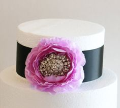 Lavender and Black Cake Decorations Lavender and by GlamourWed, $36.50