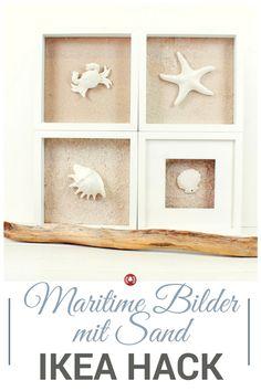 Mit Sand, Muscheln, Seesternen und anderen maritimen Fundstücken sensationelle Bilder machen? Geht! Mit dem Ribba-Bilderrahmen von IKEA. Schau dir unseren DIY mit Fotos oder gleich das Video dazu an.