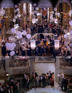"""The Film: """"The Great Gatsby"""" - balloons are a fun touch"""