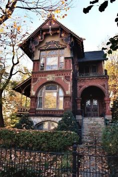 Pure Victorian..... Notice the porch on the side of the house.  Beautiful!