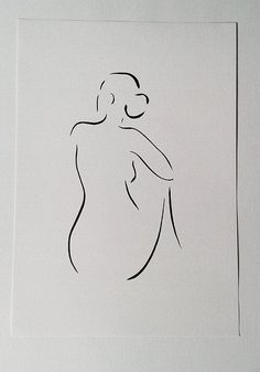 Woman from back. Black and white minimalist line drawing. x in Naked sketch. Woman from behind. Minimalist drawing in Female Face Drawing, Body Drawing, Woman Drawing, Line Drawing, Female Art, Minimalist Drawing, Minimalist Art, Art Painting Gallery, Painting & Drawing