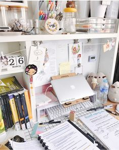 Study Areas, Study Space, Study Desk, Work Desk, Study Office, Desk Inspo, Study Inspiration, Tumblr Zimmer, Kawaii Room