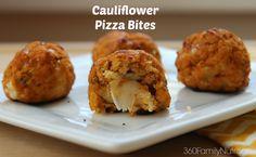 360 Family Nutrition: Cauliflower Pizza Bites