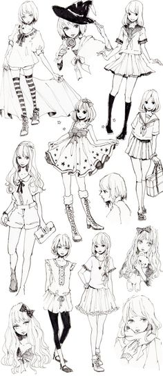 만화체 소녀