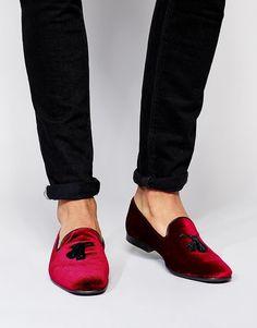 ASOS | ASOS Tassel Loafers in Velvet at ASOS