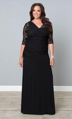Plus size dress black tie affair