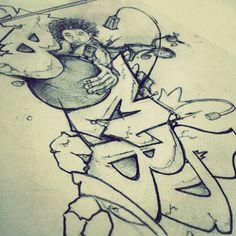#Sketch #Graffiti #Art