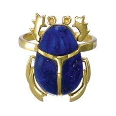 Lapis scarab ring by Zoe & Morgan. looks fabulous in person!