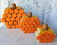 Thanksgiving Centerpieces/ Fall Decor/ Pumpkin Centerpieces/ Rustic Fall Centerpieces/ Cork Pumpkin/ Thanksgiving Decorations/ Autumn Decor