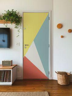 Bedroom Wall Designs, Modern Bedroom Design, Home Room Design, Home Decor Bedroom, Diy Room Decor, Living Room Designs, Modern Bedrooms, Painted Bedroom Doors, Painted Doors
