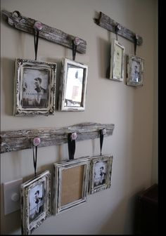 diy picture hangers with barnwood - Google Search