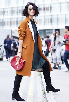 Is THIS The New It-Bag for Fall? via @WhoWhatWear--- yasmin sewell; red chloe drew purse