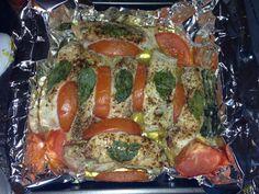 Basil tomato baked pork