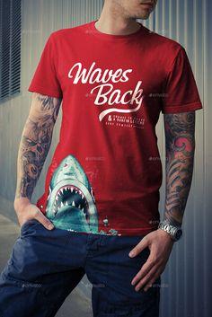 T-Shirt Mock-Up Pack #psd #photoshop #mockup #tshirt #apparel #man #woman…