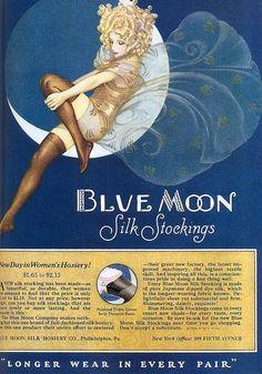 Blue Moon Hosiery ad, 1926 by Gatochy on Flickr.