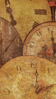 Download Antique Clocks Vintage Iphone 6 Wallpaper